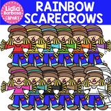 Rainbow Scarecrows