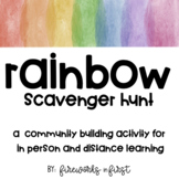 Rainbow Scavenger Hunt | A Community Building Activity