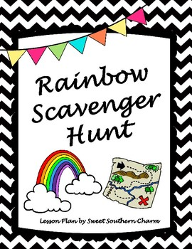 Rainbow Scavenger Hunt Lesson Plan by Sweet Southern Charm