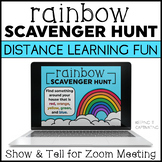 Rainbow Scavenger Hunt for Distance Learning