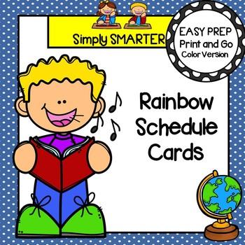 Rainbow Schedule Cards