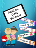 Rainbow Schedule Cards with Pictures for Visual Schedule!
