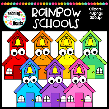 Rainbow Schools Clipart