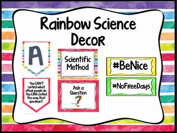Rainbow Science Classroom Decor