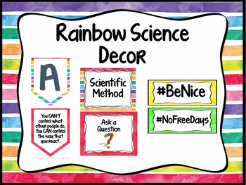 Rainbow Science Classroom Decor