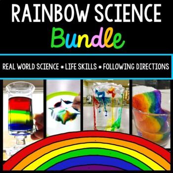 Rainbow Science Experiment - Special Education - Procedural Write - BUNDLE