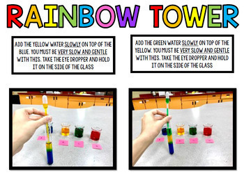 Rainbow Science Experiment - Special Education - Procedural Write GOOGLE BUNDLE