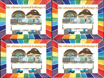 Rainbow Science Journal Labels