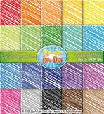 Rainbow Scribbles Pattern Digital Scrapbook Pack — Basic Bundle Pack (20 Pages)