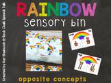 Rainbow Sensory Bin: Opposite Concepts Freebie