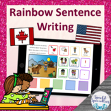 Rainbow Sentence Writing **SET 2** BOOM Cards™ for Distance Learning