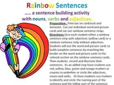 Rainbow Sentences - a sentence building activity