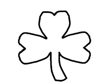 Rainbow & Shamrock Art templates for crafts, Q-Tip Painting or Do-a-Dots Freebie
