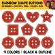 Rainbow Shape Buttons Clipart