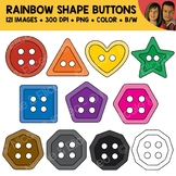 Rainbow Shape Buttons Clipart