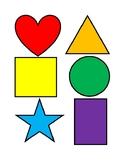 Rainbow Shape Cards