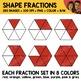 Rainbow Shape Fractions Clipart