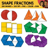Rainbow Shape Fractions Clipart
