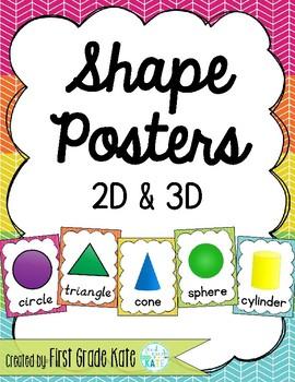 Rainbow Shape Posters for Classroom Decor