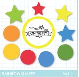 Rainbow Shapes Clip Art {Freebie!}