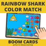 Rainbow Shark Color Match BOOM Cards (distance learning)
