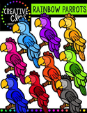 Rainbow Parrots {Creative Clips Digital Clipart}