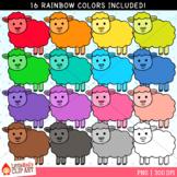 Rainbow Sheep Clip Art