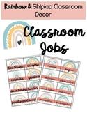 Rainbow & Shiplap Classroom Decor Class Jobs