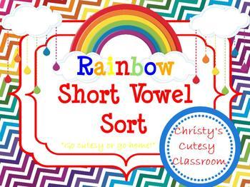 Rainbow Short Vowel Sort
