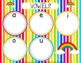 Rainbow Short Vowel Sorting Mat Activity - FREE
