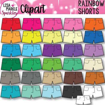 Rainbow Shorts Clothing Clipart
