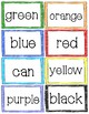 Rainbow Sight Word Cards