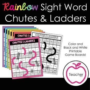 Rainbow Sight Word Chutes & Ladders