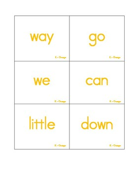 Rainbow Sight Word Flashcards