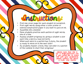 Interactive Sight Word Book: Fry Lists 1-3 {Book for Assessment or Practice!}