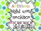 Rainbow Sight Word Necklace