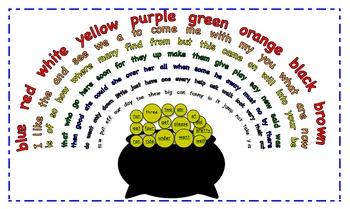 Rainbow Sight Words