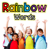 Sight Word Organization System: Rainbow Sight Words (w/ Pe