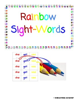 Rainbow Sight-Words- Adapted For Students with Special Needs