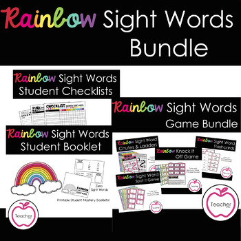 Rainbow Sight Words Bundle