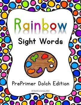 Rainbow Sight Words (DOLCH PrePrimer)