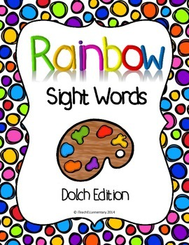 Rainbow Sight Words {Dolch Edition}