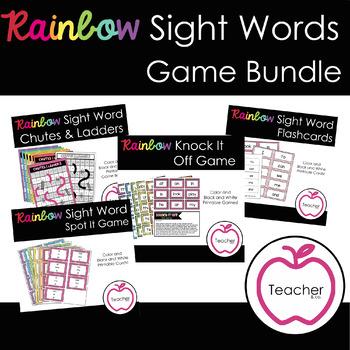 Rainbow Sight Words Game Bundle