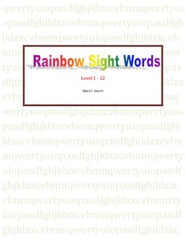 Rainbow Sight Words Level 1-12