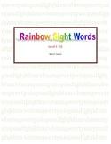 Rainbow Sight Words Level 1-12