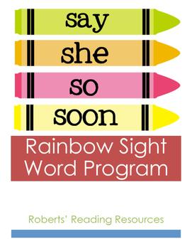 Rainbow Sight Word Assessment Program