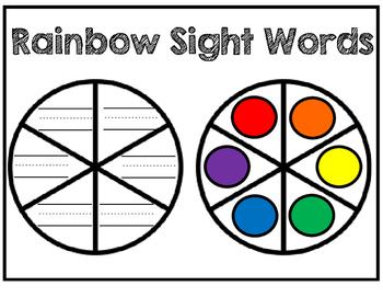 Rainbow Sight Words Spinner