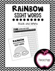 Rainbow Sight Words Student Checklists