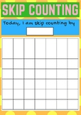 Rainbow Skip Counting Grids