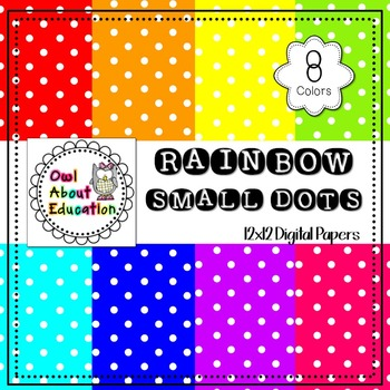 Rainbow Small Dots - Digital Paper Pack
